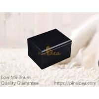 Quality Gloss Black MDF Wooden Pet Cremation Ashes Remains Container Urns for Small Pets, Small Order, Blank Engravable. for sale