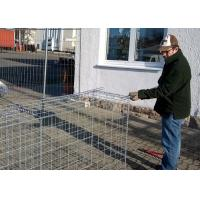Quality Pvc Coated Metal Gabion Baskets / Gabion Stone Cages Long Life Span for sale