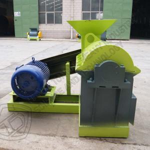Quality Bioorganic fermentation chicken dung manure semi-wet material animal feed grain crusher machine for sale