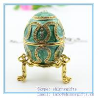 Quality Cheap Easter Gifts/Popular luxury Faberge Egg /metal jewelry box/pewter trinket box for sale