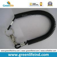 Quality Flexible Plastic Long Coil Key Ring Good Tool Lanyard for sale