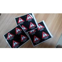 Quality Custom Self Adhesive Paper Laminated Danger / Warning Sign Labels For Illegal Substances for sale