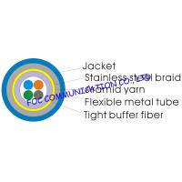 Quality Optical Fiber Cable 4core With Flexible Metal Tube and Braid For CATV for sale