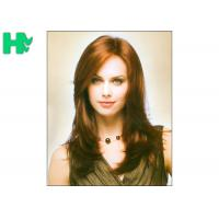 Quality Natural Wave Medium Length Synthetic Hair Wigs For Elegance White Women for sale