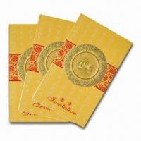 Quality Greeting Card with Delicate Design, Customized Specifications are Welcome for sale