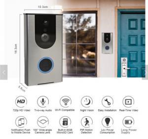 China Smart Wifi Wireless outdoor cheap PIR alarm wireless doorbell Home video Smart WiFi doorbell, wireless doorbell with cam on sale
