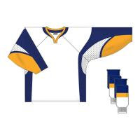 Quality Custom Team Ice Hockey Jerseys Embroidered Hockey Shirts , Red / Yellow / White for sale