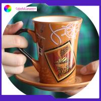 China Tableware Ceramic Cup And Saucer Colorful Tea Cup And Saucer Gift Set on sale