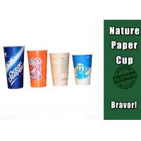 China Double PE Coated Cold Drink Cups Food Grade For Coffee Shops / Offices on sale