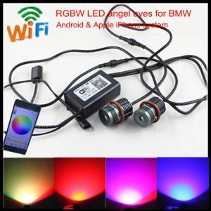 Quality Mobile Wifi control colors change E60 E39 20W LED RGBW angel eyes for BMW E39 E60 E87 for sale