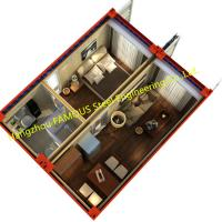 Quality 20ft Finely Decorated Modern Luxury Prefab Container House Complete Set Of Furniture for sale