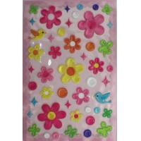 3D Clear PVC Puffy Stickers Self-adhesive With Rotary Printing