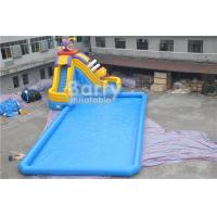 Quality CE Certificate Inflatable Water Park , Inflatable Pool With Piranha Slide for sale