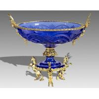 Quality 24K gold Sapphire crystal  fruit tray for sale