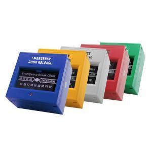 Quality Sandblast Panel Access Control Exit Button Door Release Glass Break Alarm Button for sale