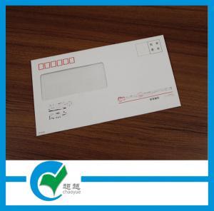 Quality Art Paper or Kraft Paper Custom Envelope Printing - Mailer Window Saliva Glue Envelope for sale
