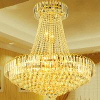 Quality Large gold and crystal chandelier For hotel Project Lighting Fixtures (WH-NC-13) for sale