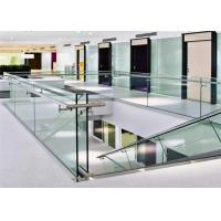 Quality Indoor staircase usage raling /U channel glass railing free customized free design for you for sale