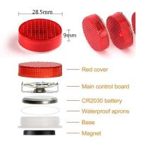 Quality Car Door Warning Light with Red Strobe Flashing Led Open Safety Lights Reflecto LED Lamps Magnetic Waterproof Wireless for sale
