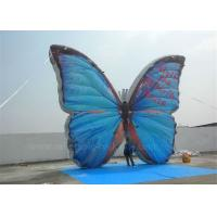 Quality Outdoor Advertising Inflatable Butterfly Beautiful Blue High Tear Strength for sale
