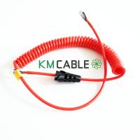 Quality Fire Rescue Telephone Spiral Cable High Tensile Strength Copper Braided for sale