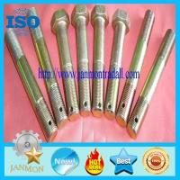 Quality Bolt with hole, Bolt with Hole in Head ,Hex head bolts with holes,Hex bolts with holes,Yellow zinc hex bolt with hole for sale