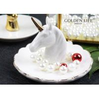 Quality Creative Unicorn Ceramic Jewelry Tray Bedroom Bedside Trinkets Decoration Dish for Holding Small Jewelries, Rings, Neck for sale