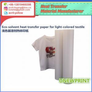 Quality 0.61m*30m light color eco solvent PU wholesale factory made roland mimaki printer heat transfer vinyl for sale