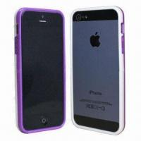 Quality Cellphone Case of iPhone 5, dual-color TPU bumper, detachable, many colors available for sale