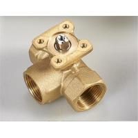 Quality 3 Way Electric Water Valve , Brass Mini Ball Valve Excellent Water Hammer Elimination for sale
