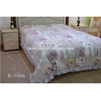 Quality bedding sets,Luxury ruffled patchwork quilt polyester quilted bedspreadfilling with cotton or polyester for sale