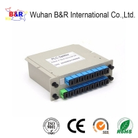 Quality 1x16 FTTB Fiber Optic PLC Splitter With UPC Connector for sale