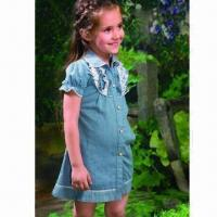 China Girls' Without Dress/Denim Dress, OEM and ODM Orders Acceptable on sale
