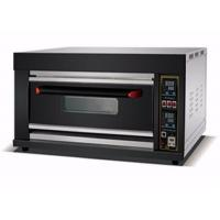 China Digital Control Electric / Gas Baking Oven Single Deck Three Trays Deck Oven for Bread on sale