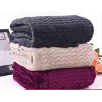 Quality Warm Embossed Soft Knitted Flannel Throw Blankets For Couches 100% Polyester for sale