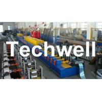 Quality High Quality PU Foam Rolling Door Slat Roll Forming Machine With Flying Saw Tracking Cut for sale