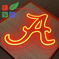 Quality Longlife Neon Letter Sign LED Shop Display Red 3D Custom Signage With Clear Back for sale