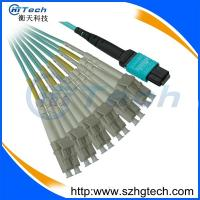 Quality MPO/LC OM3 12Core Fiber Optic Patch Cable Fanout 2.0mm Patch Cord for sale