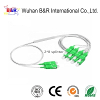 Quality 1.0m 2X8 Fiber Optic PLC Splitter With SC Connector for sale