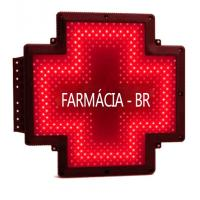 China Fixed 50x50 Dot LED Pharmacy Cross Signs Display Electronic Pill Board Brazil on sale