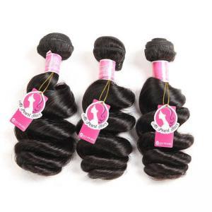 Loose Wave Brazilian Human Hair Bundles Deals , Brazilian Wave Hair Extensions