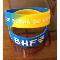 Quality Bosnia Soccer World Cup Embossing Sports Silicone Bracelets Non-toxic for sale