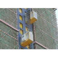 Quality Helical Reducer Cage 450M Construction Material Hoist for sale