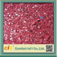 Quality Decoration  PU Printed Vinyl Fabric 137cm Wide Shiny With Glitter for sale