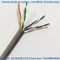 Quality Oxygen Free 24AWG UTP CAT6E Network Cable HDPE Lan Ethernet Cable for sale