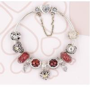 Quality Silver Bracelet with fit pandora clasp 925 sterling silver bracelet 1:1 for sale
