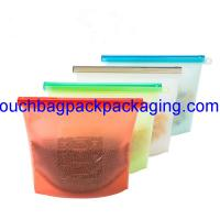 China Silicone Food Bag, silicon packaging bag reusable for vegetable pack of 4 on sale