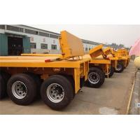 Quality 3 axle skeleton container transport trailer 40/45ft chassis or flatbed private customized for sale