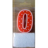 China White Border and Dots Numeral Candle (SZC2-0036) on sale
