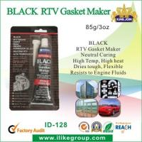 Quality High Temp Silicone Rubber Sealant , Black RTV Gasket Maker For Vehicle Body for sale
